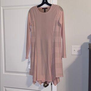 BNWT BCBG light pink long sleeved dress